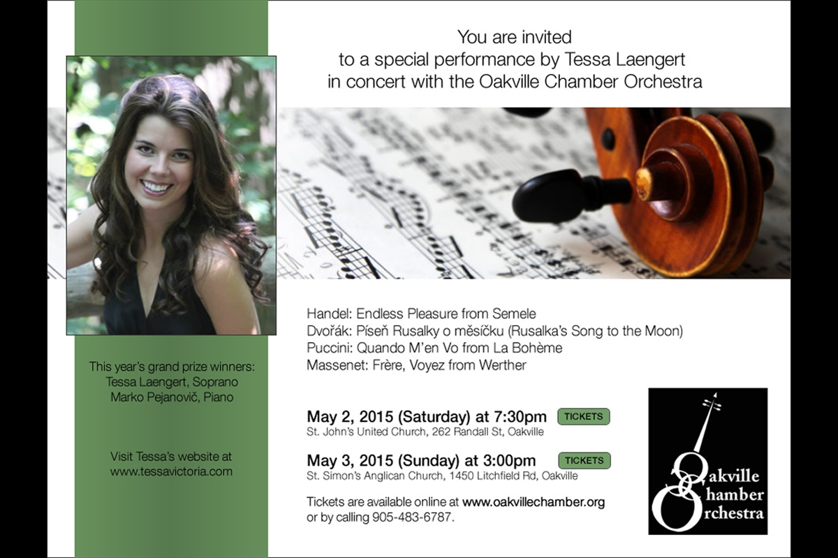 Grand Prize Winners Concert, Oakville Chamber Orchestra